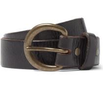 4cm Brown Terrance Distressed Leather Belt