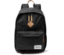 Out Of Office Leather-trimmed Canvas Backpack