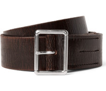 4cm Brown Wallace & Barnes Distressed Leather Belt