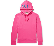 Embellished Loopback Cotton-jersey Hoodie