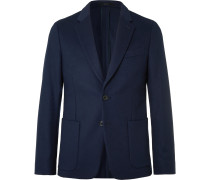Merlot Slim-Fit Wool and Cashmere-Blend Suit Jacket