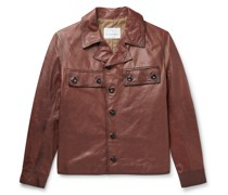 Burnished-Leather Jacket