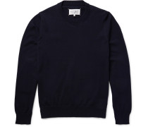 Elbow-patch Cotton Sweater