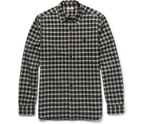Brit Slim-fit Checked Cotton-flannel Shirt