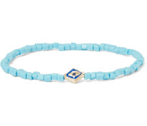 Gold, Sapphire And Bead Bracelet