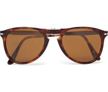714 Folding D-frame Tortoiseshell Acetate Sunglasses