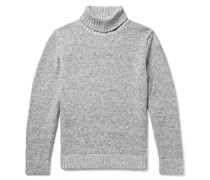 Donegal Mélange Merino Wool and Cashmere-Blend Rollneck Sweater