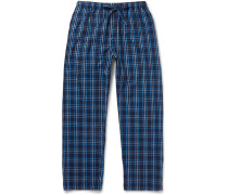 Checked Cotton-flannel Pyjama Trousers