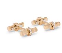 18-Karat Gold Diamond Cufflinks