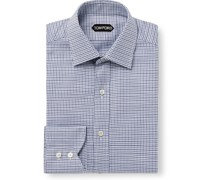 Slim-Fit Puppytooth Cotton Shirt
