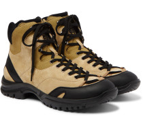 Eye/LOEWE/Nature Leather-Trimmed Suede and Mesh Boots