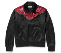 Slim-fit Embroidered Cotton-blend Blouson Jacket