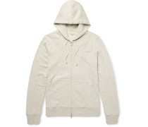 Slim-fit Loopback Cotton-jersey Zip-up Hoodie