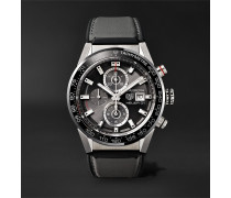 Carrera Automatic Chronograph 43mm Steel And Rubber Watch