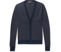 Cashmere, Virgin Wool And Silk-blend Cardigan