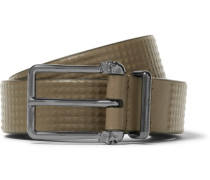 3cm Green Studded Leather Belt
