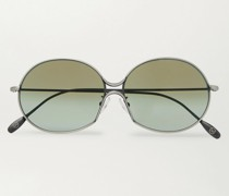 + Cutler and Gross Round-Frame Silver-Tone Metal Sunglasses