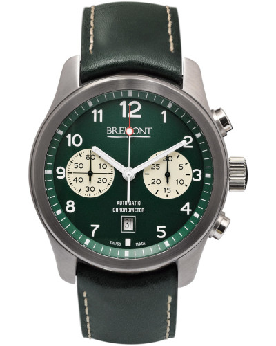 Alt1-classic/gn Automatic Chronograph 43mm Stainless Steel And Leather Watch - Green