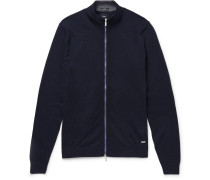 Cotton And Wool-blend Zip-up Cardigan