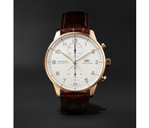 Portugieser Automatic Chronograph 41mm 18-Karat Gold and Alligator Watch, Ref. No. IW371611