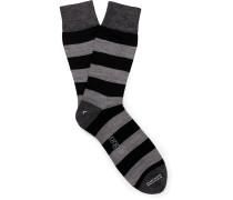 + Corgi Striped Wool-blend Socks