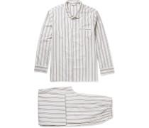 Alfred Striped Cotton Pyjama Set