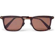Square-frame Acetate And Bronze-tone Sunglasses