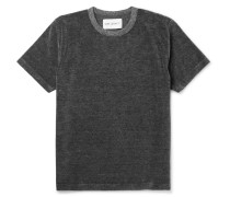 Mélange Cotton-blend Velour T-shirt