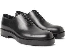 Whole-cut Polished-leather Oxford Shoes