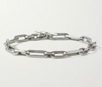 Burnished Sterling Silver Chain Bracelet