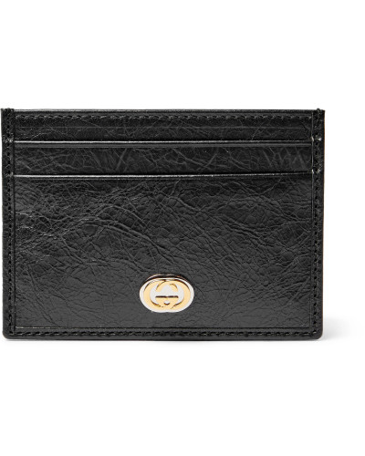 Creased-Leather Cardholder