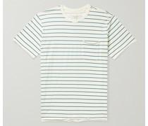 Miles Striped Organic Cotton-Jersey T-Shirt