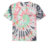 + Tuff Gong Logo-Print Tie-Dyed Cotton-Jersey T-Shirt