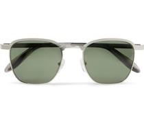 Mish Square-Frame Silver-Tone Sunglasses