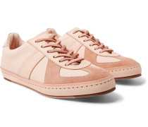 Mip-05 Suede-trimmed Leather Sneakers