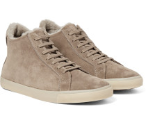 Freetime Winter Walk Shearling-lined Suede High-top Sneakers