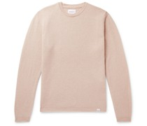 Sigfred Mélange Brushed-Wool Sweater