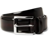 3cm Burnished Leather Belt