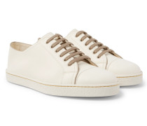 Levah Cap-toe Nubuck And Leather Sneakers