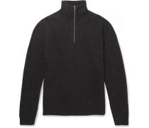 Fjord Slim-Fit Mélange Merino Wool Half-Zip Sweater