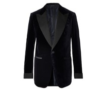 Shelton Slim-Fit Cotton-Velvet Tuxedo Jacket