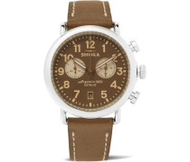 The Runwell Chronograph 41mm Stainless Steel And Leather Watch