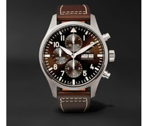 Pilot's Antoine de Saint Exupéry Edition Automatic Chronograph 43mm Stainless Steel and Leather Watch