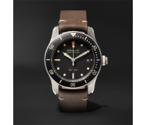Supermarine Type 301 Automatic Chronometer 40mm Stainless Steel And Leather Watch