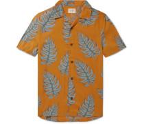 Arvid Camp-Collar Printed Lyocell Shirt