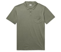 Eric Cotton and Modal-Blend Jersey Polo Shirt