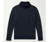 Wool-Blend Bouclé Rollneck Sweater