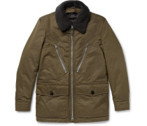 Shearling-trimmed Water-resistant Cotton-blend Parka