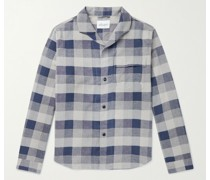 Miles Camp-Collar Checked Cotton-Blend Shirt