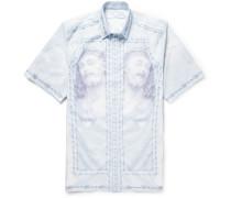Columbian-fit Printed Cotton Shirt